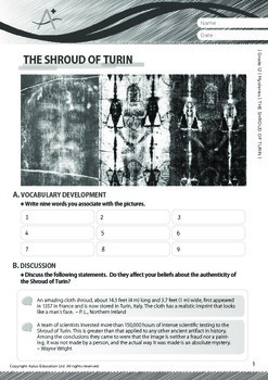 Mysteries - The Shroud of Turin - Grade 12