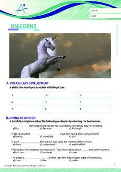 Mysteries - Unicorns - Grade 7