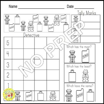 Detective Worksheets Activities Games Printables and More