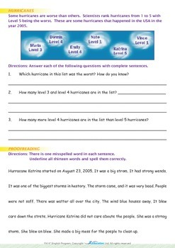 Mysteries - What Are Hurricanes? - Grade 4