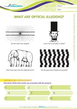 Mysteries - What Are Optical Illusions? - Grade 3