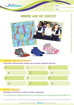 Mysteries - Where Are My Socks? - Grade 3