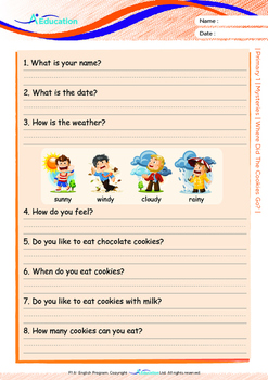 Mysteries - Where Did The Cookies Go? - Grade 1 ('Triple-Track Writing Lines')