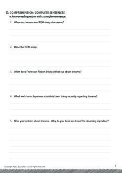 Mysteries - Why Do We Dream - Grade 12