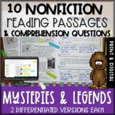 Mysteries and Legends Nonfiction Passages and Questions -