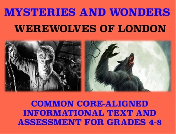 Mysteries and Wonders Passage and Assessment #21: Werewolves of London