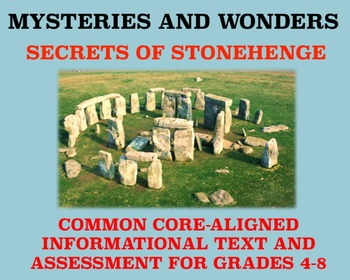 Mysteries and Wonders Passage and Assessment #26: Secrets of Stonehenge