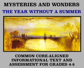 Mysteries and Wonders Passage and Assessment #29: The Year Without A Summer