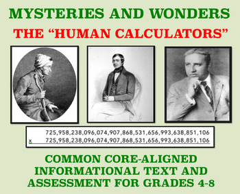 Mysteries and Wonders Passage and Assessment #30: The Human Calculators