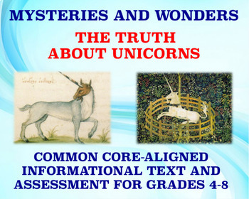 Mysteries and Wonders Passage and Assessment #33: The Truth About Unicorns