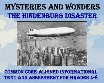 Mysteries and Wonders Passage and Assessment #35: The Hindenburg Disaster