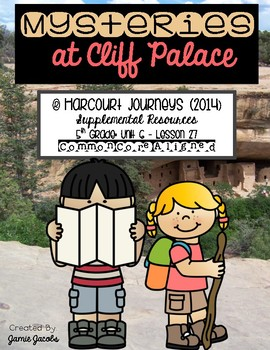 Mysteries at Cliff Palace (Journeys 5th - Supplemental Materials)