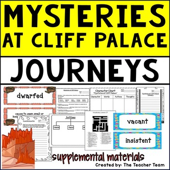 Mysteries at Cliff Palace Journeys 5th Grade Unit 6 Lesson 27 Activities