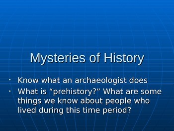 Mysteries of History