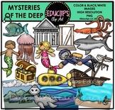 Mysteries of The Deep Clip Art Bundle {Educlips Clipart}