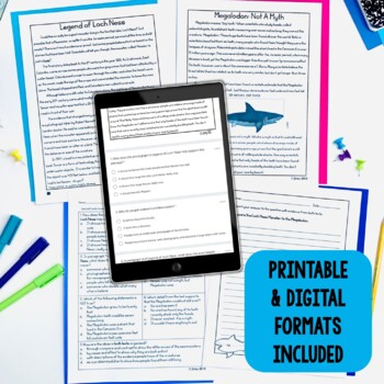 Paired Texts / Paired Passages: Mysteries of the Deep Leveled for Grades 4-8
