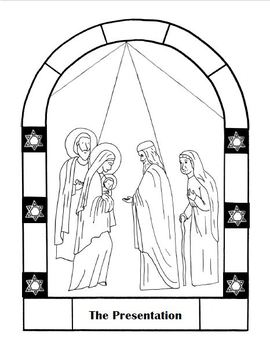 Mysteries of the Rosary Coloring pages