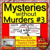 Mysteries without Murders #3: Reading Mystery Unit - Zoom Activities Google Meet