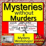 Mysteries without Murders 8 Reading Mystery Units PRINT and GOOGLE Close Reading