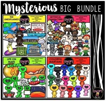 Mysterious Clip Art Big Bundle {Educlips Clipart}