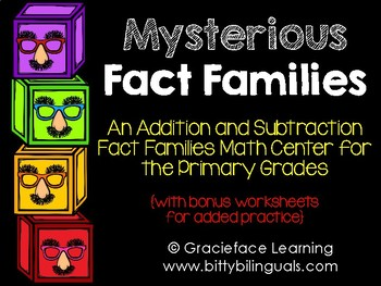 Addition and Subtraction Fact Families - Mysterious Fact Families