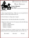 Mysterious House Book Report / Project (Mystery Genre)