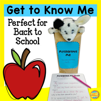 Mysterious Me! Back to School Writing, Craft, Home Project, and Game
