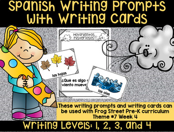 Mysterious Movers Spanish Writing Prompts & Cards Can Be Used With Frog Street