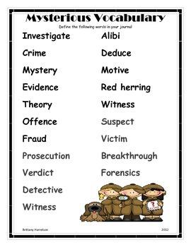 Mysterious Vocabulary-Dictionary Skills