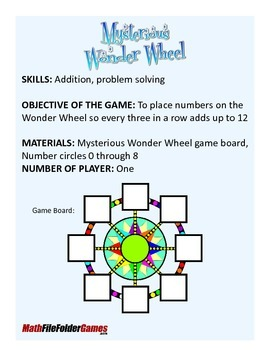Mysterious Wonder Wheel: Addition, Problem Solving