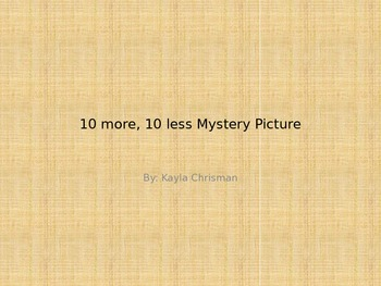 Mystery 120 Chart Picture (10 more/10 less)