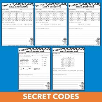 Mystery Unit Activities - Secret Codes, Fingerprints, Invisible Ink & More!