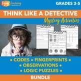 Mystery Unit Activities - Secret Codes, Fingerprints, Invi