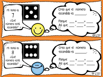 Mystery Addends - Math Task Cards for Firsties - DUAL Language