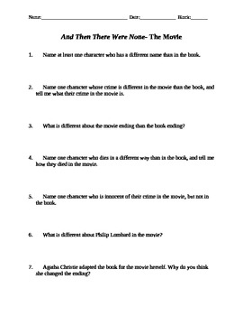 and then there were none essay test Need students to write about and then there were none we've got discussion and essay questions designed by master teachers.