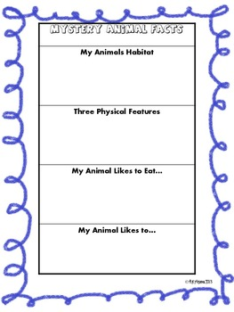 Mystery Animal: A Descriptive Writing Research Project