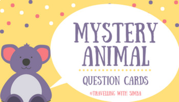 Mystery Animal. Question cards