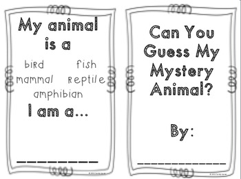 Mystery Animal Research For Kinder