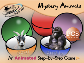 Mystery Animals - Animated Step-by-Step Game - PCS