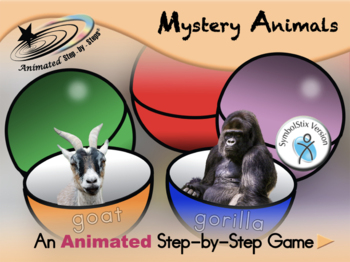 Mystery Animals - Animated Step-by-Step Game - SymbolStix