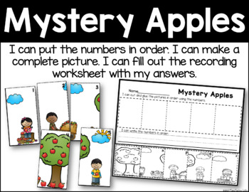 Mystery Apples - Number Order Practice