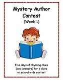 Mystery Author Contest Week One