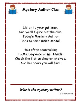 Mystery Author Contest Week Three