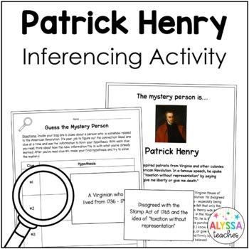 Patrick Henry Mystery Person Activity