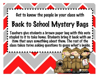 Mystery Bag - Back to School Fun!