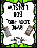 """Mystery Bag""-Sight Word Game"