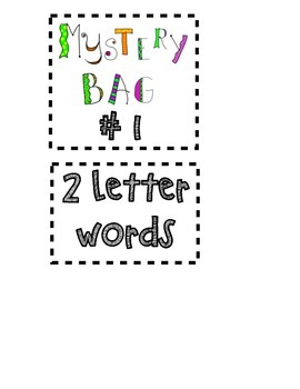 """""""Mystery Bag""""-Sight Word Game"""