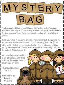 Mystery Bag {Take-Home-Bag} FREEBIE