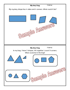 Mystery Bag of 2D Shapes