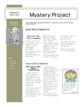 Mystery Book Project - Newspaper